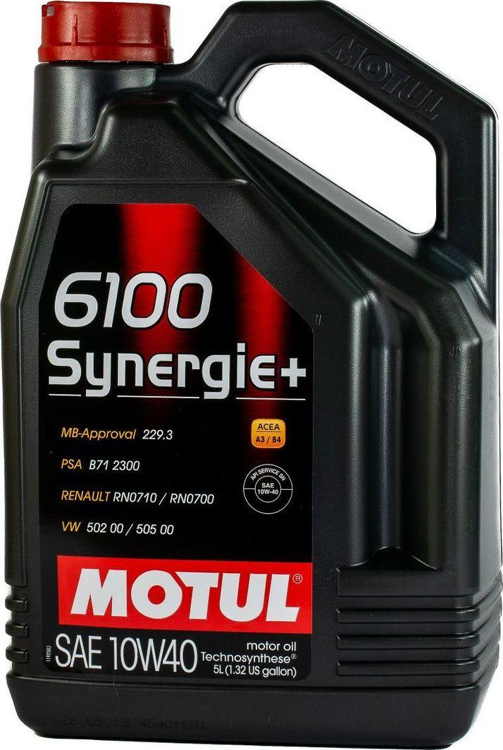Olej silnikowy Motul OLEJ MOTUL 10W40 5L 6100 SYNERGIE+ / 502.00 505.00 / 229.3 / B71 2300 1