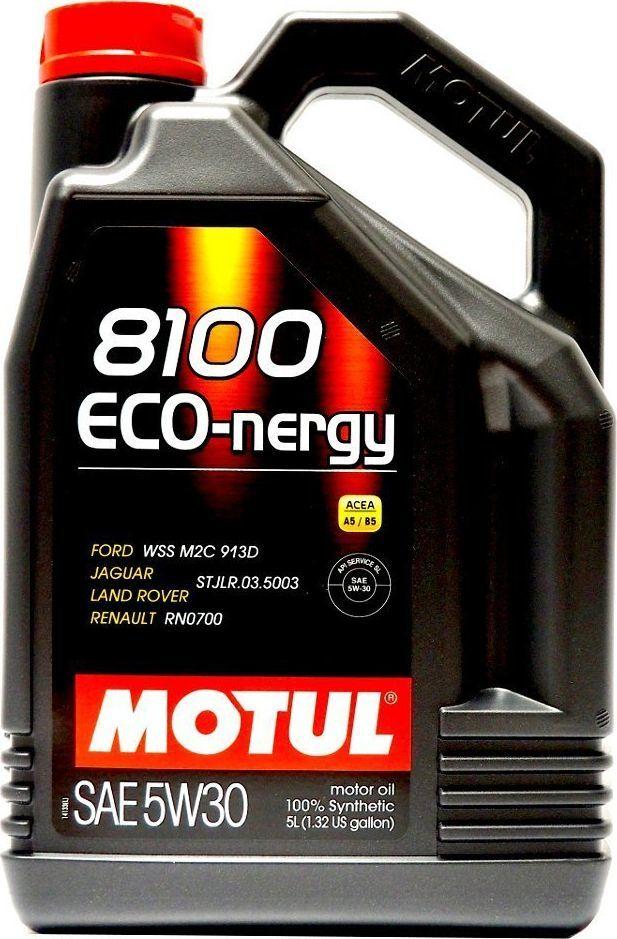 Olej silnikowy Motul OLEJ MOTUL 5W30 5L 8100 ECO NERGY / A5/B5 / WSS M2C 913C / RN0700 / HONDA / VOLVO 1
