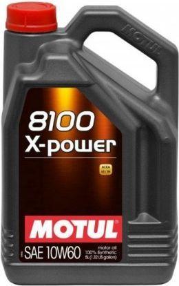 Olej silnikowy Motul 8100 X-Power syntetyczny 10W-60 5L 1