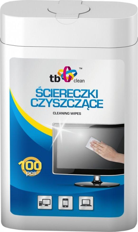 TB Chusteczki nawilżane do czyszczenia ekranów 100 szt. (ABTBCU0CHTM) 1