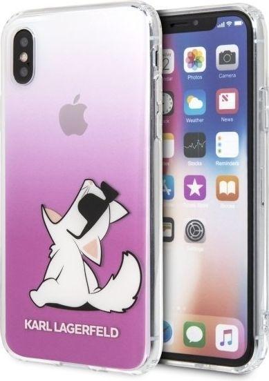 Karl Lagerfeld Etui KLHCPXCFNRCPI iPhone X/XS różowe 1