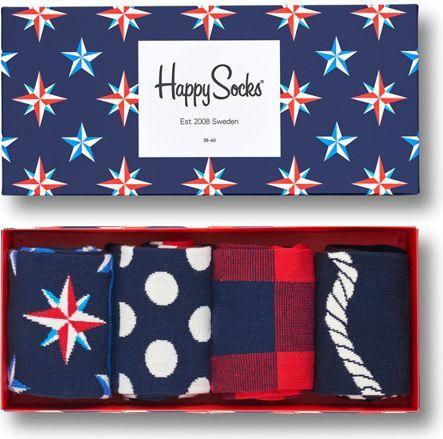 Happy Socks Happy Socks Giftbox (4-pary) XNAU09-6000 - Kolorowe Skarpety w Zestawie 1