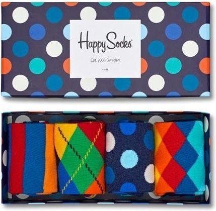Happy Socks Happy Socks Giftbox (4-pary) XMIX09-6000 - Kolorowe Skarpetki Zestaw 1