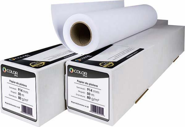 ColorPlus PAPIER DO PLOTERA COLORPLUS 914x50x80G 1 ROLKA 1