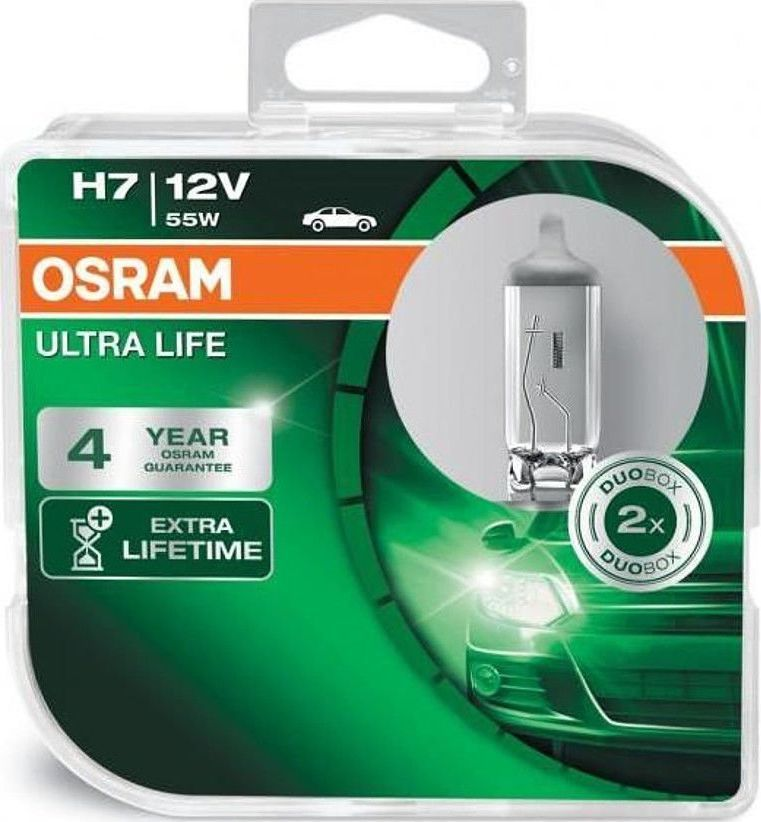 Osram OSRAM autožárovka H7 ULTRA LIFE 12V 55W PX26d (Duo-Box) 1