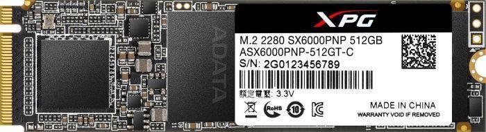 Dysk SSD ADATA XPG SX6000 Pro 512 GB M.2 2280 PCI-E x4 Gen3 NVMe (ASX6000PNP-512GT-C) 1