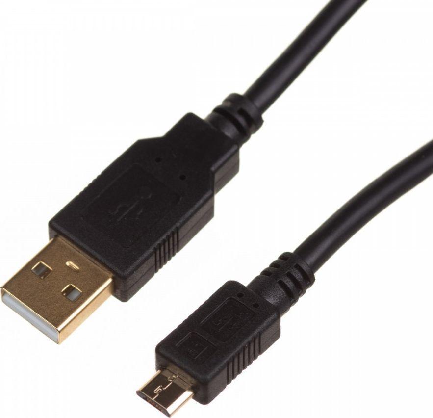 Kabel USB Digitus Kabel połączeniowy USB 2.0 HighSpeed Typ USB A/microUSB B M/M czarny 1m-DK-300161-010-E 1