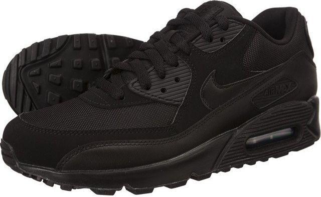 Buty Męskie Nike Air Max 90 537384 016 Czarno Czerwone, NIKE