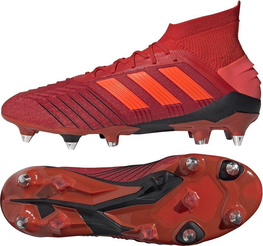 Adidas Buty piłkarskie Predator 19.1 SG czerwone r. 40 23 (D98054) ID produktu: 5340745