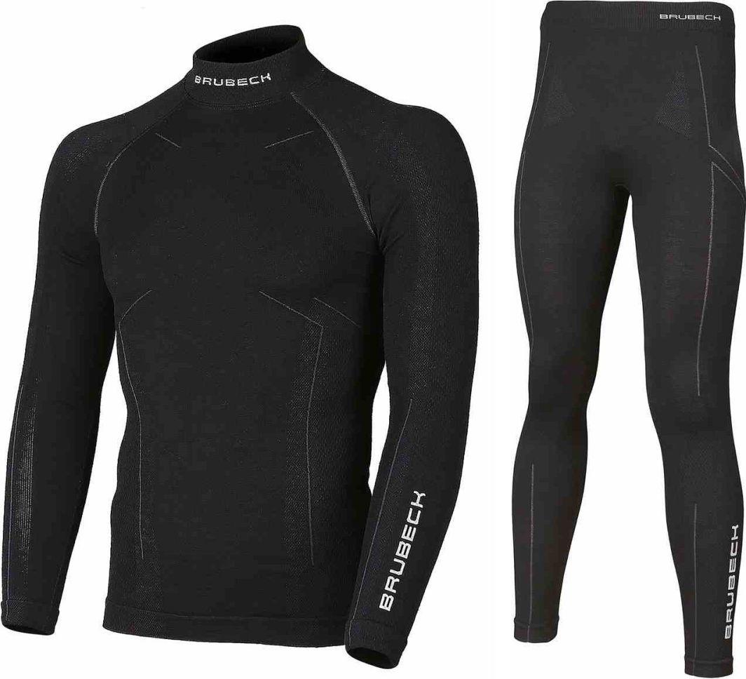 Brubeck Komplet bielizny męskiej Extreme Wool czarny r. XXL (KP10180) 1