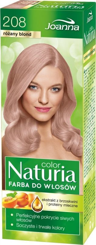 Joanna Naturia Color farba 208 różany blond 1