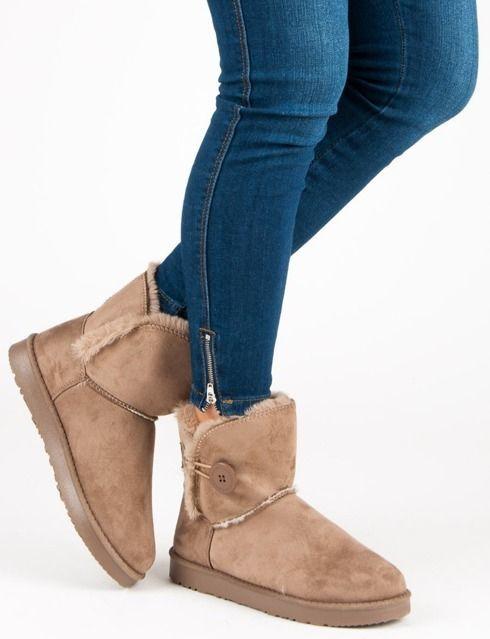 4f24e8ca269c7 KYLIE Ciepłe zimowe buty damskie 88081 brązowe r. 40 w Ubieramy.pl