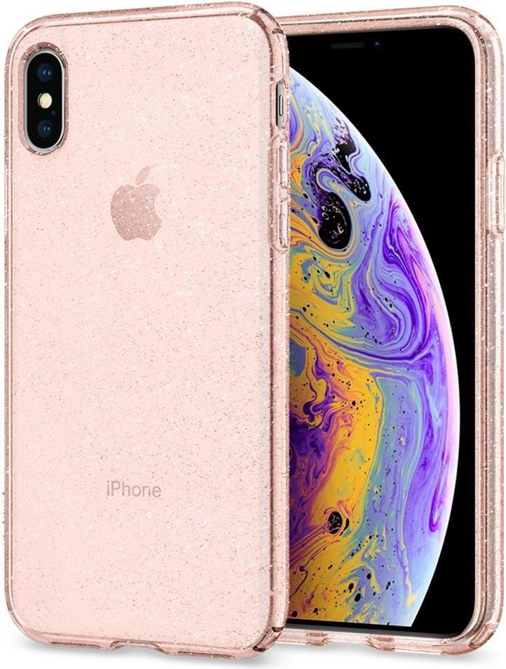 Spigen Nakładka Liquid Crystal do Apple iPhone X/XS różowa 1