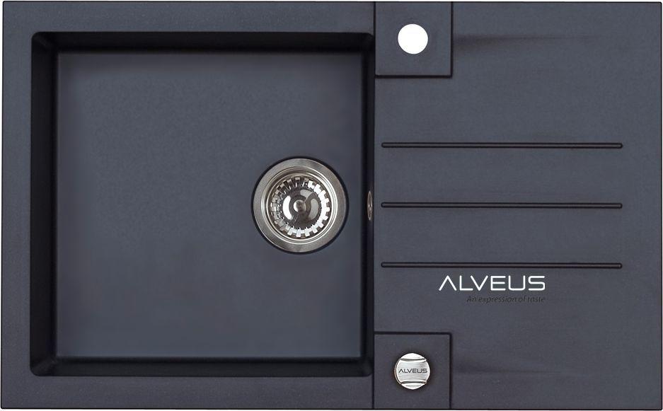 Alveus ROCK 130 780x480x180mm kolor 91 - czarny + syfon POP-UP, odwracalny 1