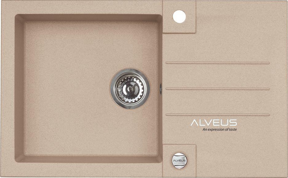 Alveus ROCK 130 780x480x180mm kolor 55 - beż + syfon POP-UP, odwracalny 1