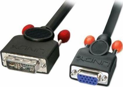 Kabel Lindy DVI-A - D-Sub (VGA) 5m czarny 1