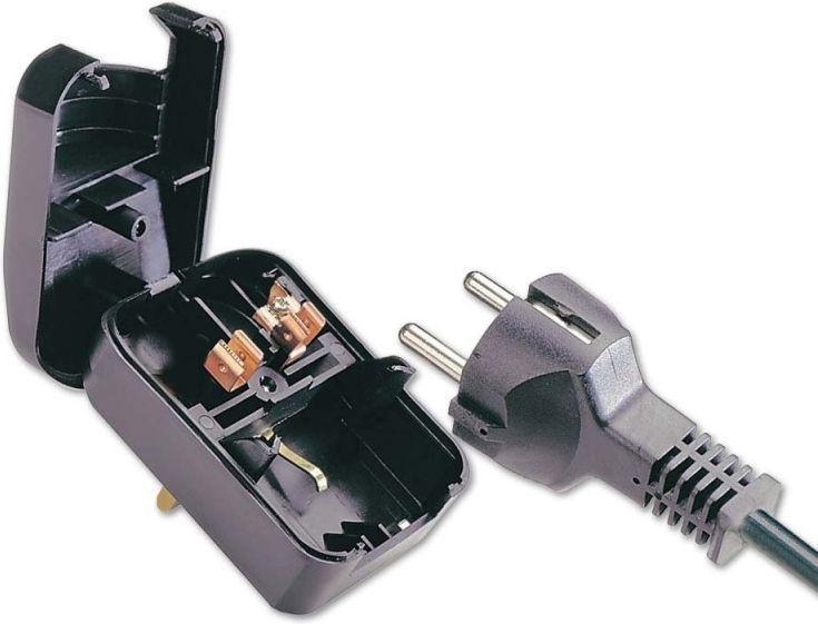 Lindy Adapter (przejściówka) zasilania gniazdo PL - wtyk UK (Wielka Brytania, Anglia) (73096) 1