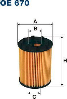 Filtron FILTR OL.AGILA 1.3CDTI,PANDA II 1.3JTD 1