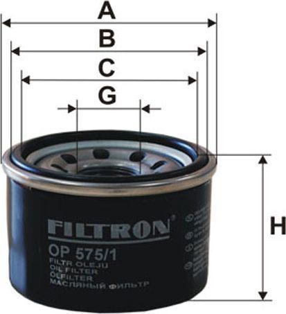 Filtron Filtr Oleju Smart Fortwo 1.0 07-(OP575/1) 1