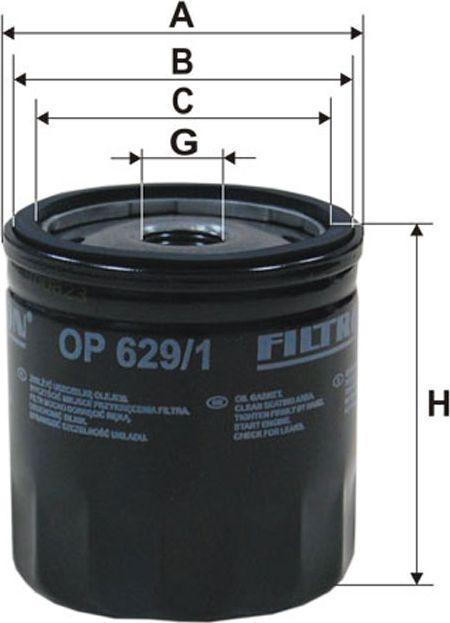 Filtron Filtr Oleju Focus II 1.4-1.6 16V 04 (OP629/1) 1