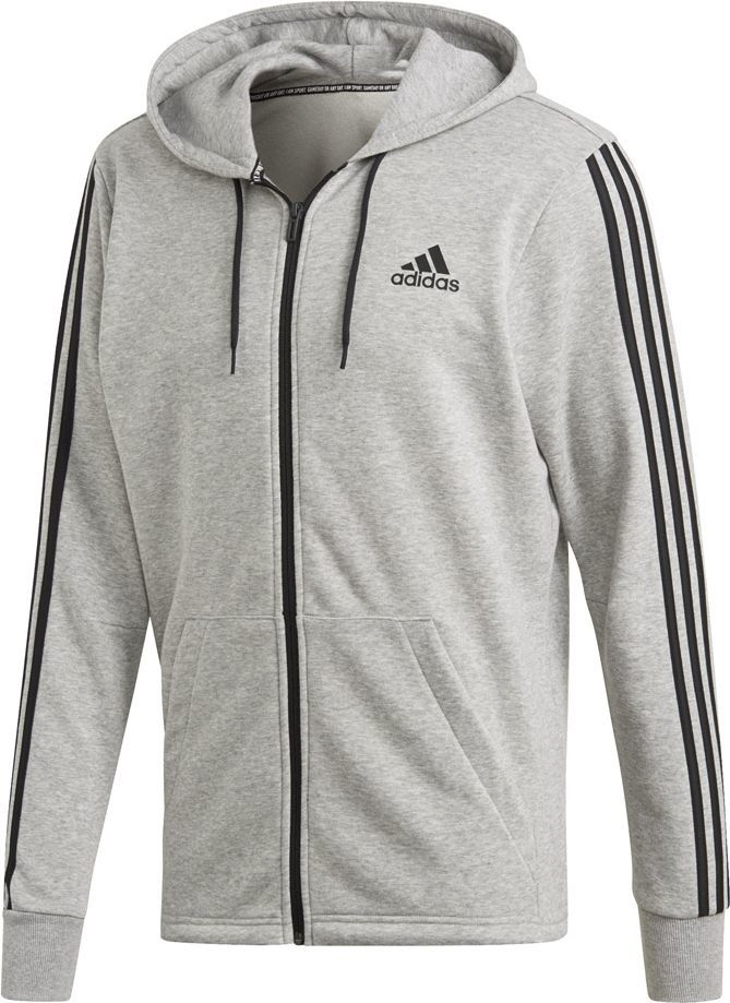 Adidas Bluza męska MH 3S FZ FT M szara r. S