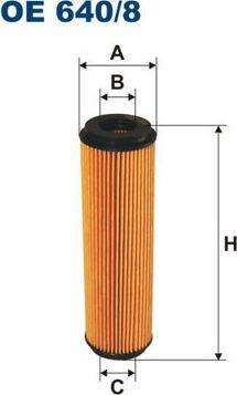 Filtron 640/8 OE FILTR OLEJU 1