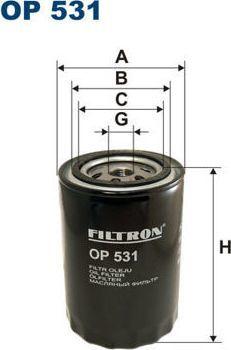 Filtron 531 OP FILTR OLEJU OPEL 1