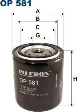 Filtron 581 OP FILTR OLEJU FORD,ISUZU,NISSAN 1