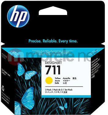 HP tusz CZ136A nr 711 (3 x yellow) 1