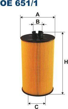 Filtron 651/1 OE FILTR OLEJU MERCEDES 1