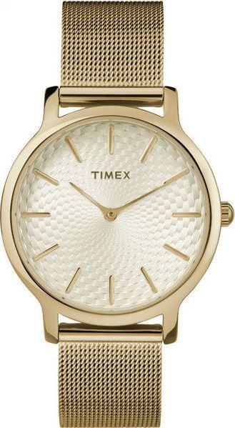 Zegarek Timex TW2R36100 Metropolitan Gold damski 1