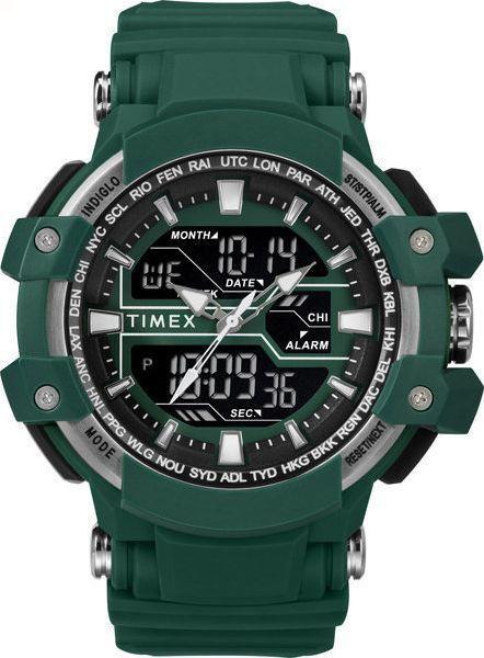 Zegarek Timex Combo TW5M22800 Tactic DGTL męski zielony 1