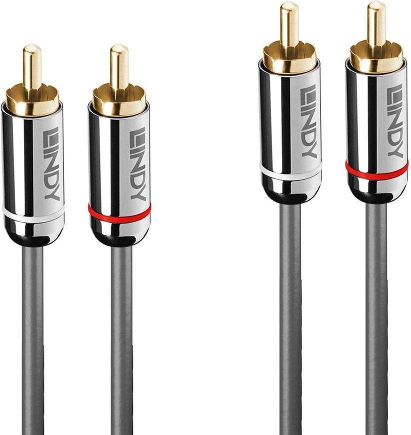 Kabel Lindy RCA (Cinch) x2 - RCA (Cinch) x2 5m srebrny (35348) 1