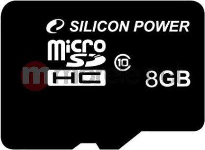 Karta Silicon Power MicroSDHC 8 GB Class 10  (SP008GBSTH010V10) 1