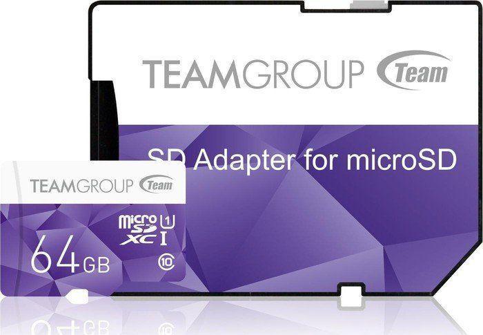 Karta Team Group MicroSDXC 64 GB Class 10 UHS-I/U1  (TCUSDX64GUHS41) 1