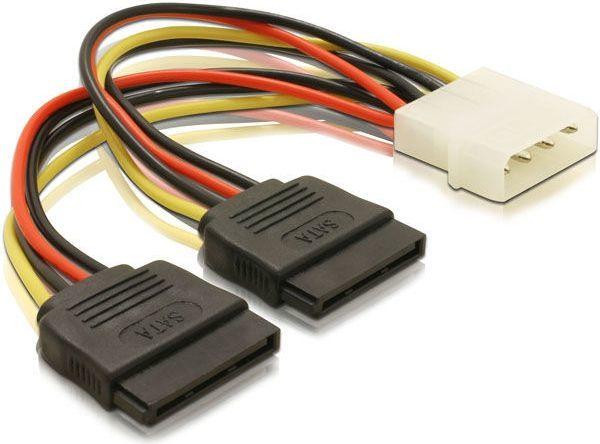 Qoltec Adapter MOLEX 4pin na 2x SATA POWER 20cm (27618) 1