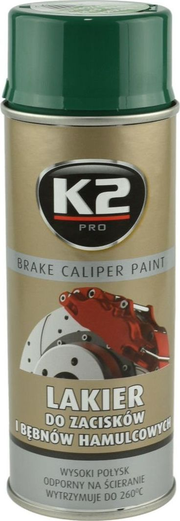 K2 Sport K2-CALIPER LAKIER DO ZACISKOW ZIELON 400 1