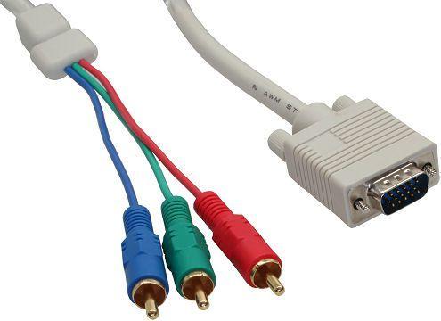 Kabel InLine D-Sub (VGA) - RCA (Cinch) x3 2m biały (17202) 1