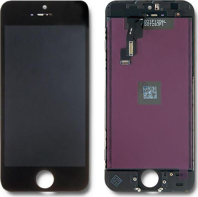Qoltec Wyświetlacz dotykowy LCD do iPhone 5C, ramka czarna 1
