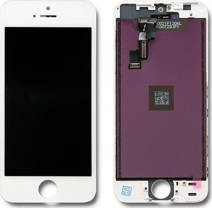 Qoltec Wyświetlacz dotykowy LCD do iPhone 5S/SE, ramka biała 1