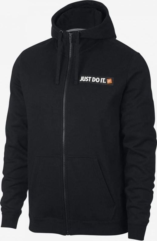 NIKE BLUZA M NSW HOODIE FZ FLC HBR (928703 010) Męskie | cena 159,99 PLN, kolor CZARNY | Bluzy Nike