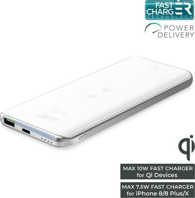 Powerbank Puro Wireless Slim 8000mAh (FCBB80P1QIWHI) 1