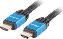 Kabel Lanberg HDMI - HDMI 1.8m niebieski (CA-HDMI-20CU-0018-BL) 1