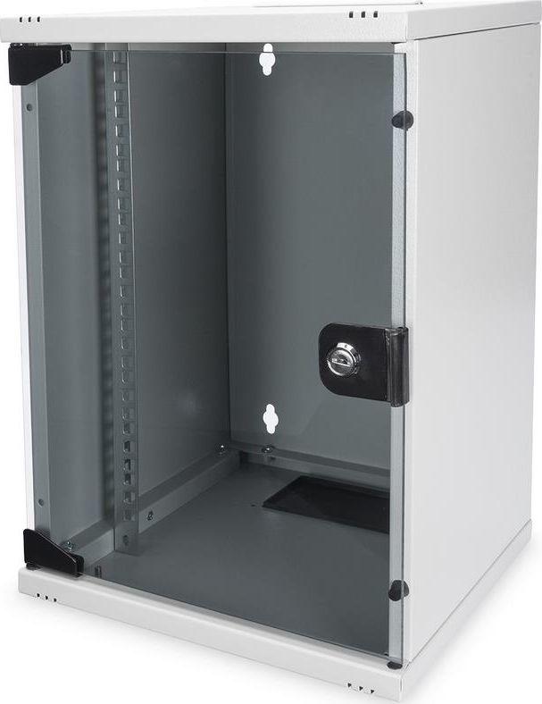 Szafa Digitus Szafa wisząca jednosekcyjna 10 cali 9U 464x312x300mm, drzwi szklane-DN-10-09U 1