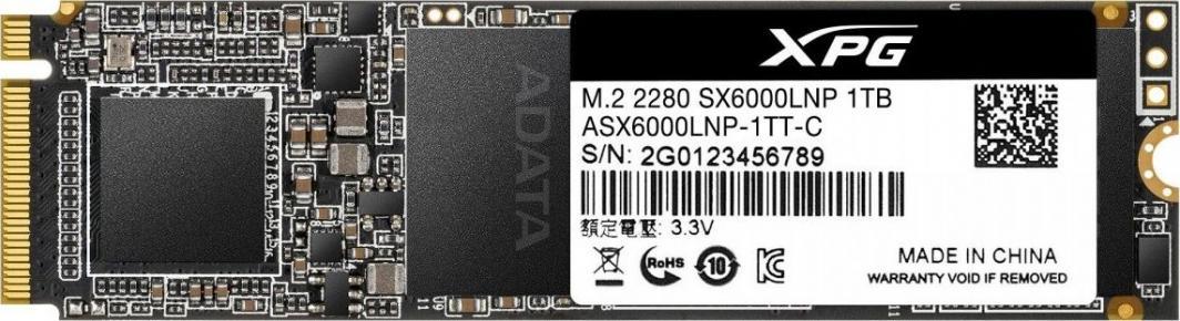 Dysk SSD ADATA XPG SX6000 Lite 1 TB M.2 2280 PCI-E x4 Gen3 NVMe (ASX6000LNP-1TT-C) 1