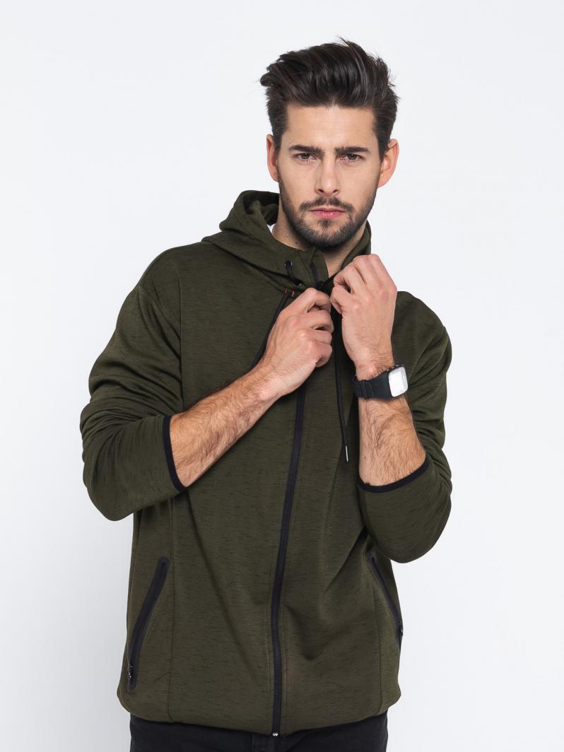4f Bluza męska H4L19 BLM007 khaki melanż r. XXL ID produktu: 5618365