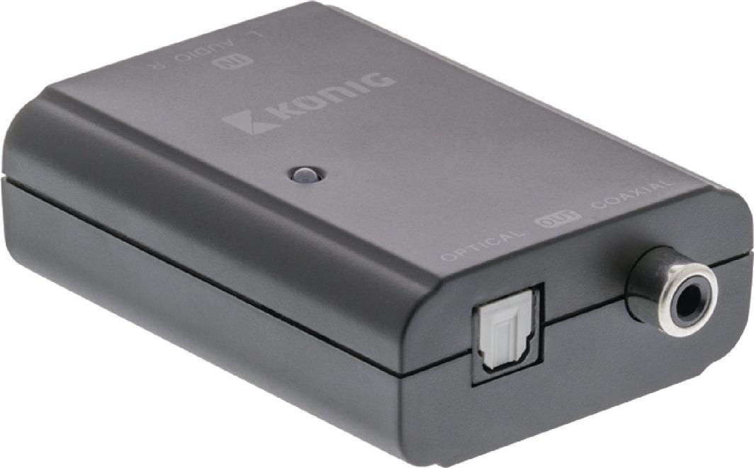 Adapter AV Valueline Konwerter Audio 2x RCA - 1x TosLink + RCA (KNACO2503) 1