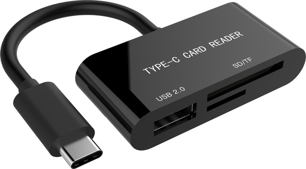 Czytnik Gembird USB-C SDXC czarny (UHB-CR3-02) 1