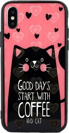 Beline Etui Hearts iPhone 5/5S/SE wzór 6 (cat pink) 1