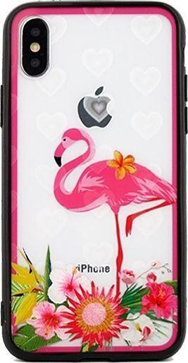 Beline Etui Hearts Huawei Mate 20 Lite wzór 3 clear (pink flamingo) 1